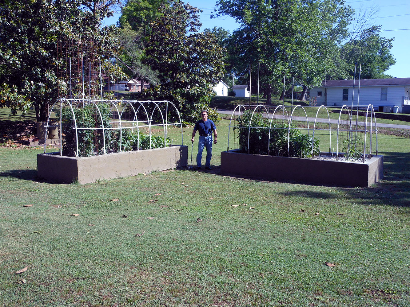 05-21-2015 Both Gardens with New Cages 01