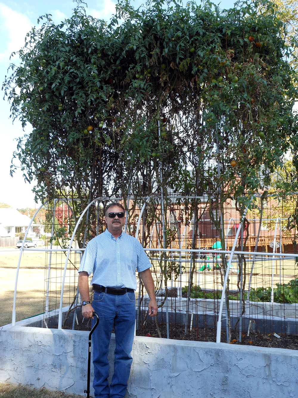 10-19-2016 Me and Tomato Plants at St Pauls