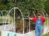 08-07-2016 Larry Parker Next To Tomato Plants S 04